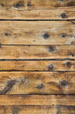 Pared de madera en el edificio árbol seco y previsto Imagen de archivo libre de regalías