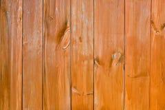 Pared de madera laqueada Foto de archivo