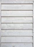 Pared de madera pintada blanca Foto de archivo libre de regalías