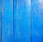 Pared de madera pintada vieja Fotografía de archivo