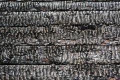 Pared de madera quemada Foto de archivo libre de regalías