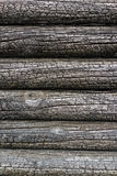 Pared de madera quemada de la casa Fotografía de archivo