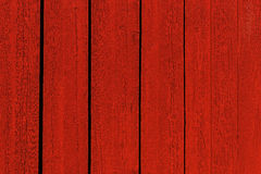 Pared de madera roja Fotografía de archivo