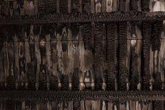 Pared de madera rota quemada Fotos de archivo libres de regalías