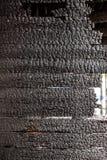 Pared de madera rota quemada Imagen de archivo