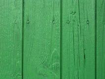 Pared de madera verde Imagen de archivo