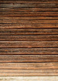 Pared de madera vieja de la casa de registro Fotos de archivo libres de regalías