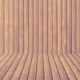 Pared de madera y textura y fondo del suelo inconsútiles imagen de archivo libre de regalías