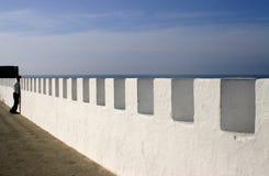 Pared de mar en Asilah Marruecos Fotografía de archivo libre de regalías