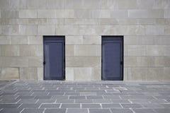 Pared de marmol con puertas Royalty Free Stock Image