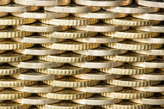 Pared de monedas, un modelo Fotos de archivo libres de regalías