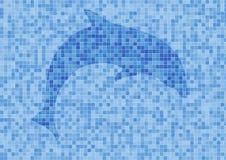 Pared de Mosaik con el delfín Fotografía de archivo