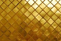 Pared de oro. Imagen de archivo