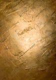 Pared de oro Imagen de archivo libre de regalías
