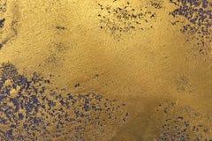 Pared de oro, textura del oro negro Foto de archivo libre de regalías