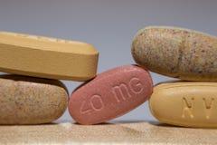 Pared de píldoras Foto de archivo libre de regalías