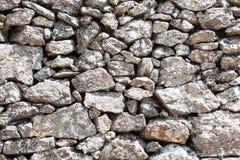 Pared de piedra al aire libre del detalle Imagen de archivo libre de regalías