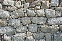 Pared de piedra al aire libre del detalle Imágenes de archivo libres de regalías