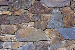 Pared de piedra al aire libre del detalle Foto de archivo libre de regalías