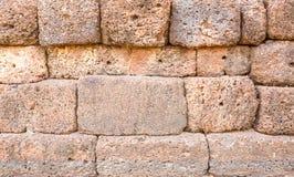 Pared de piedra antigua Fotos de archivo