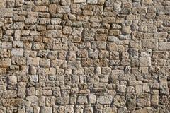 Pared de piedra antigua del anfiteatro foto de archivo libre de regalías
