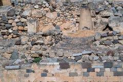 Pared de piedra antigua para un fondo Imagen de archivo