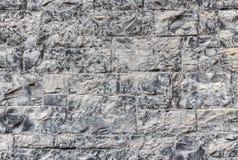 Pared de piedra antigua Textura gris monocromática Foto de archivo libre de regalías