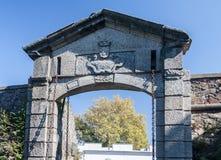 Pared de piedra Colonia Sacramento Uruguay de la entrada Imágenes de archivo libres de regalías