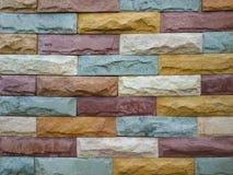 Pared de piedra colorida del bloque Imagenes de archivo