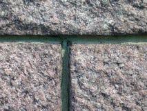 Pared de piedra con el mortero de la pátina Fotografía de archivo libre de regalías