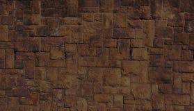 Pared de piedra de Brown Imagen de archivo libre de regalías