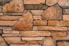 Pared de piedra de Brown Foto de archivo libre de regalías