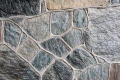 Pared de piedra de campo con el mortero Imagen de archivo