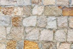 Pared de piedra de la albañilería Imagen de archivo