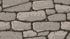 Pared de piedra de la historieta que se mueve sin fin en lazo libre illustration
