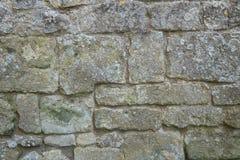 Pared de piedra de la piedra caliza vieja Imagen de archivo