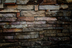 Pared de piedra de la pizarra Foto de archivo