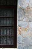 Pared de piedra de la pizarra Fotografía de archivo libre de regalías