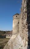 Pared de piedra de un castillo antiguo Imagen de archivo libre de regalías
