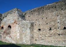 Pared de piedra de un castillo antiguo Fotografía de archivo libre de regalías