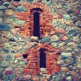 Pared de piedra de un castillo viejo Imagenes de archivo