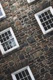 Pared de piedra de Windowed Foto de archivo