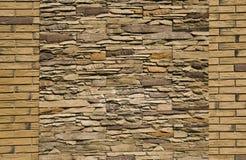Pared de piedra decorativa Fotografía de archivo