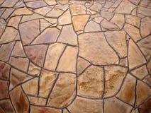 Pared de piedra decorativa con la opinión granangular del fisheye Imagenes de archivo