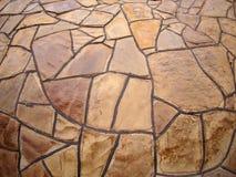 Pared de piedra decorativa con la opinión granangular del fisheye Fotos de archivo