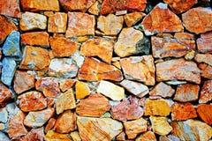 Pared de piedra del azulejo Fotografía de archivo