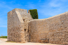 Pared de piedra del castillo de Fortaleza de Belixe Fotografía de archivo