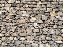Pared de piedra del castillo medieval. Imagen de archivo