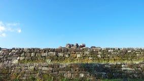 Pared de piedra del complejo del palacio del boko del ratu Foto de archivo libre de regalías