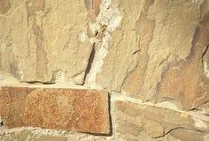 Pared de piedra del fragmento Imagen de archivo